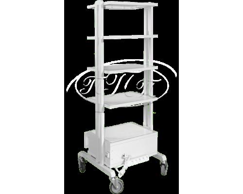 Столик аппаратный с креплениями для баллона (2 полки)